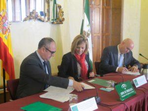 firma convenio construccion sostenible