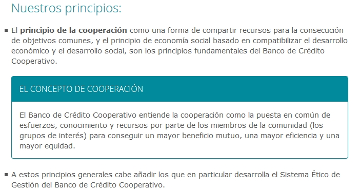 Principios Grupo Cooperativo Cajamar